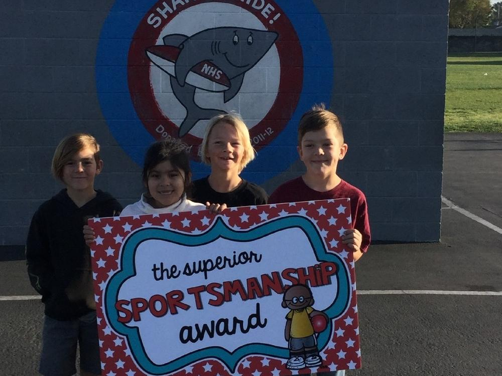 Students who received the Superior Sportsman award