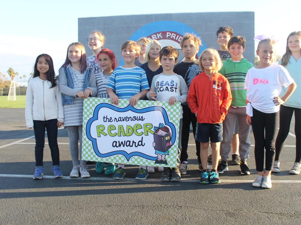 Students who received the Wonderful Writer Award in March.
