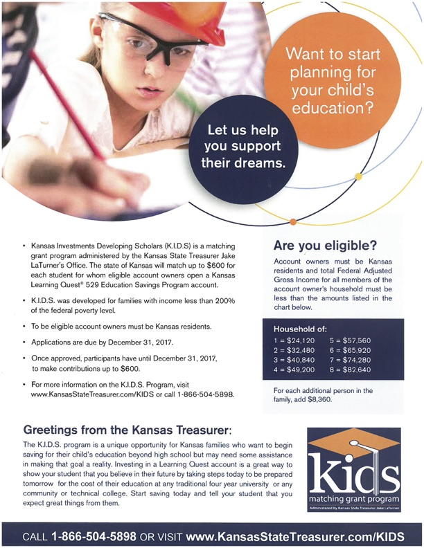 KIDS investment flyer