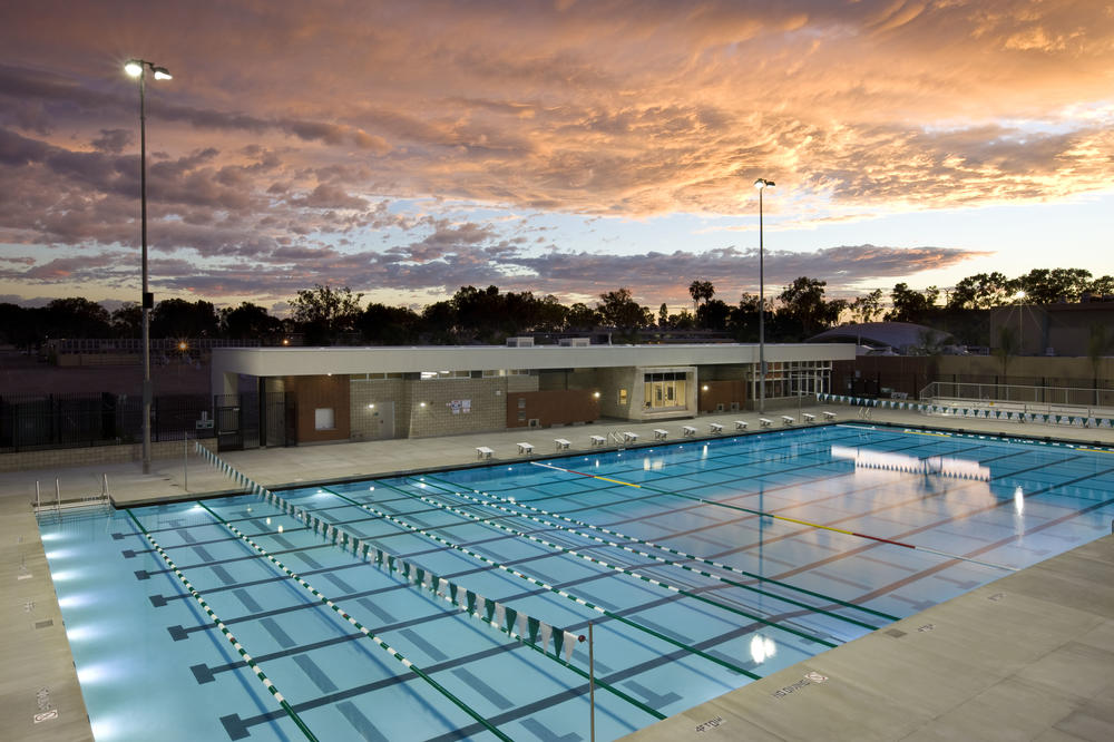 CMHS Aquatic Center at Sunset