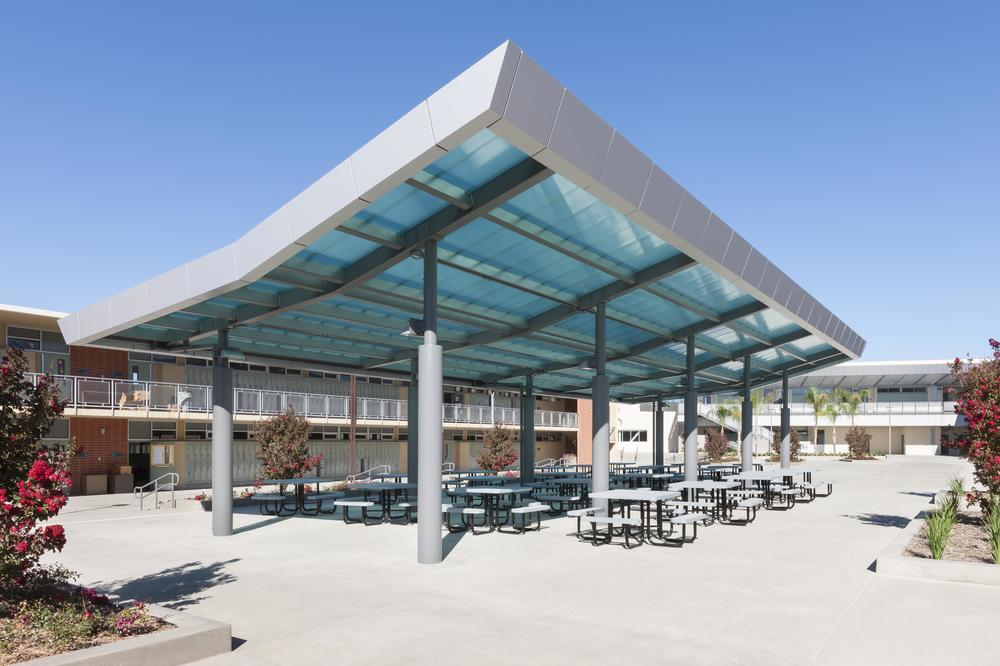 Lunch area shade structure