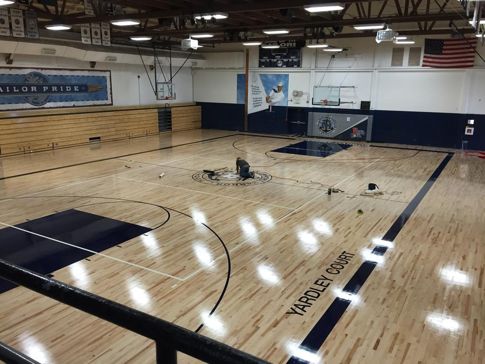 NHHS Gym Floor