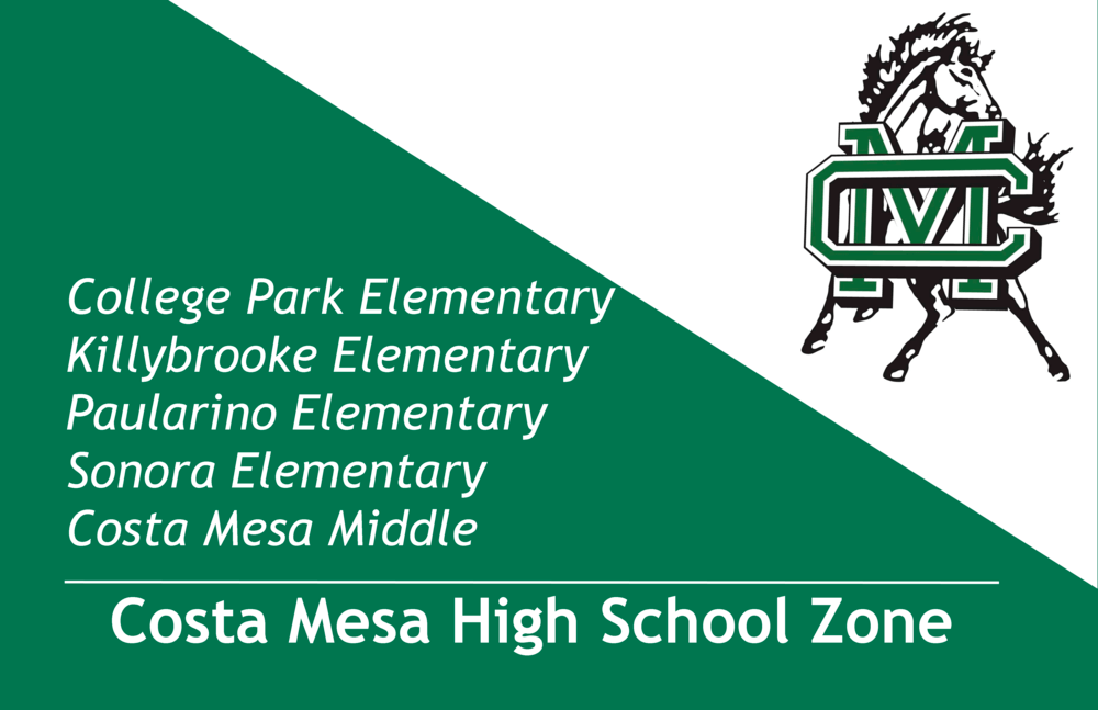Costa Mesa High School Zone Infographic