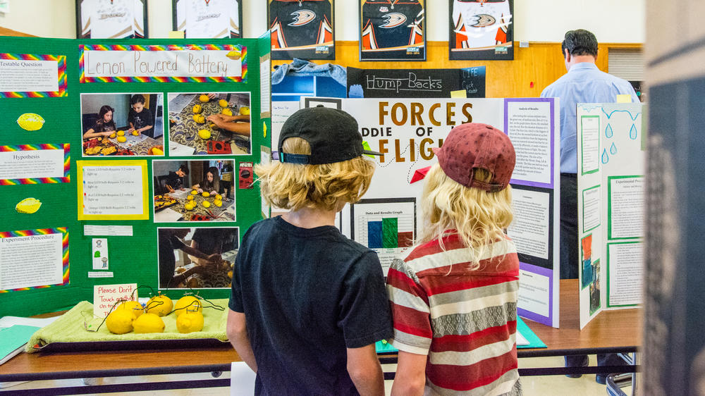 Students at a STEM Expo