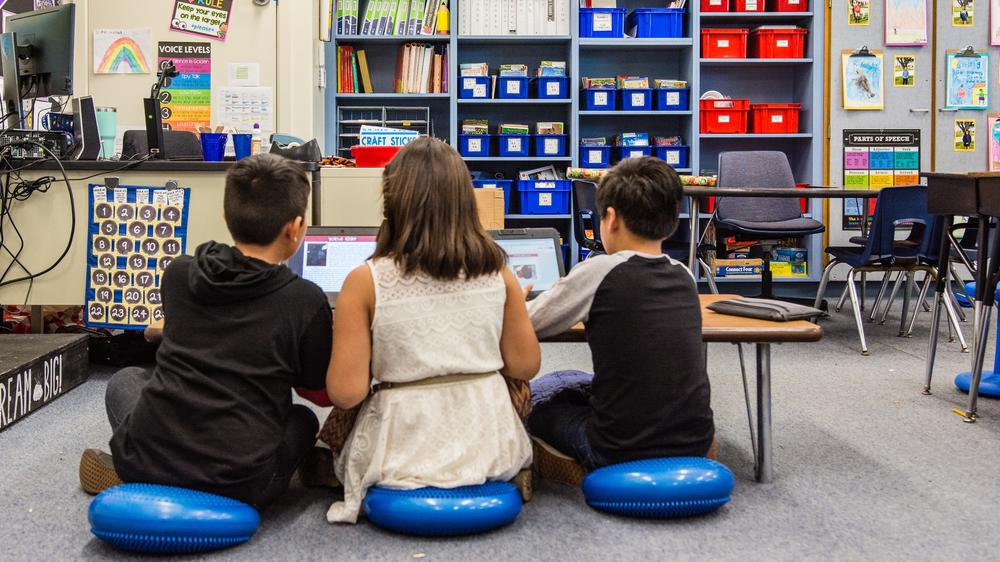 Students in a Flexible Classroom