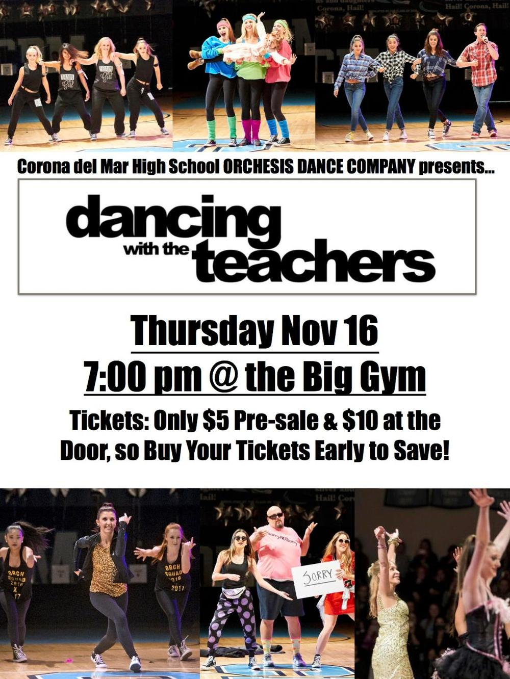 CdM Dancing with the Teachers poster