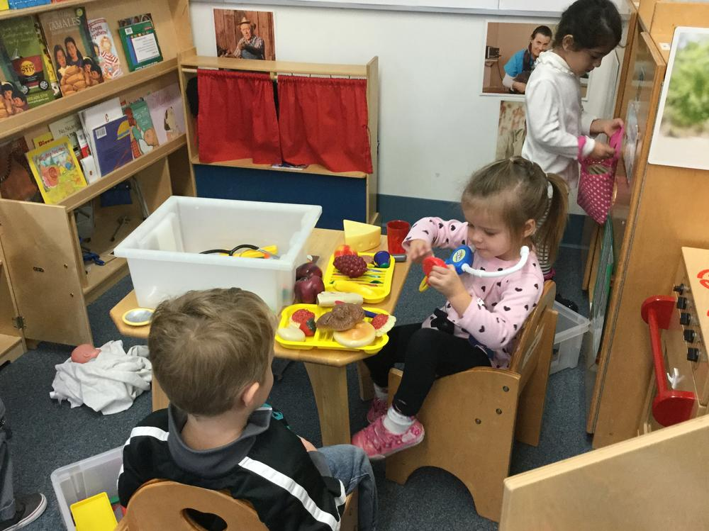 Students playing