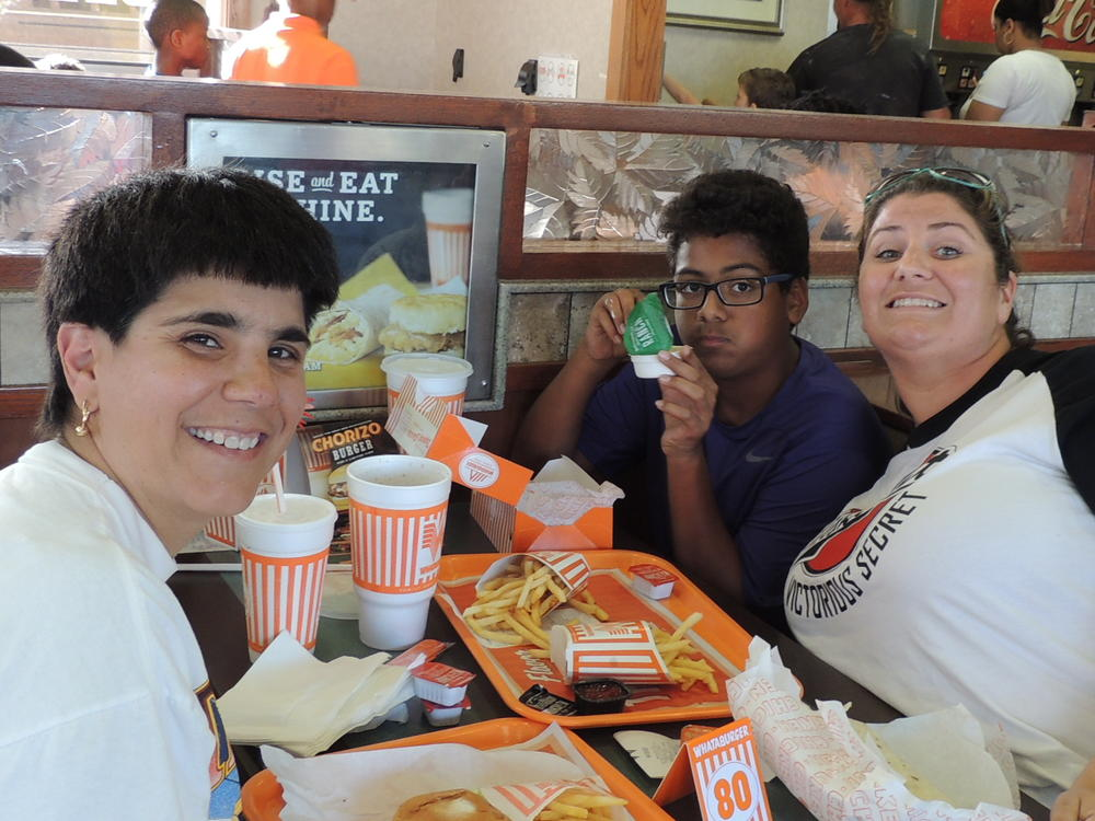 Whataburger night and Muffins with mom 002