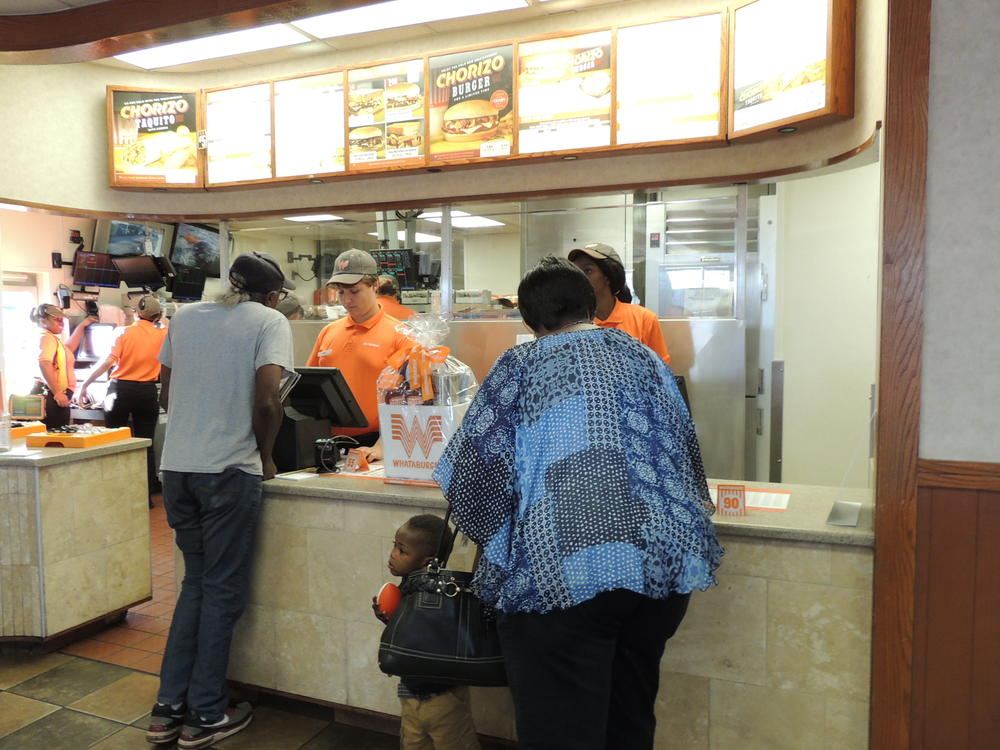 Whataburger night and Muffins with mom 019