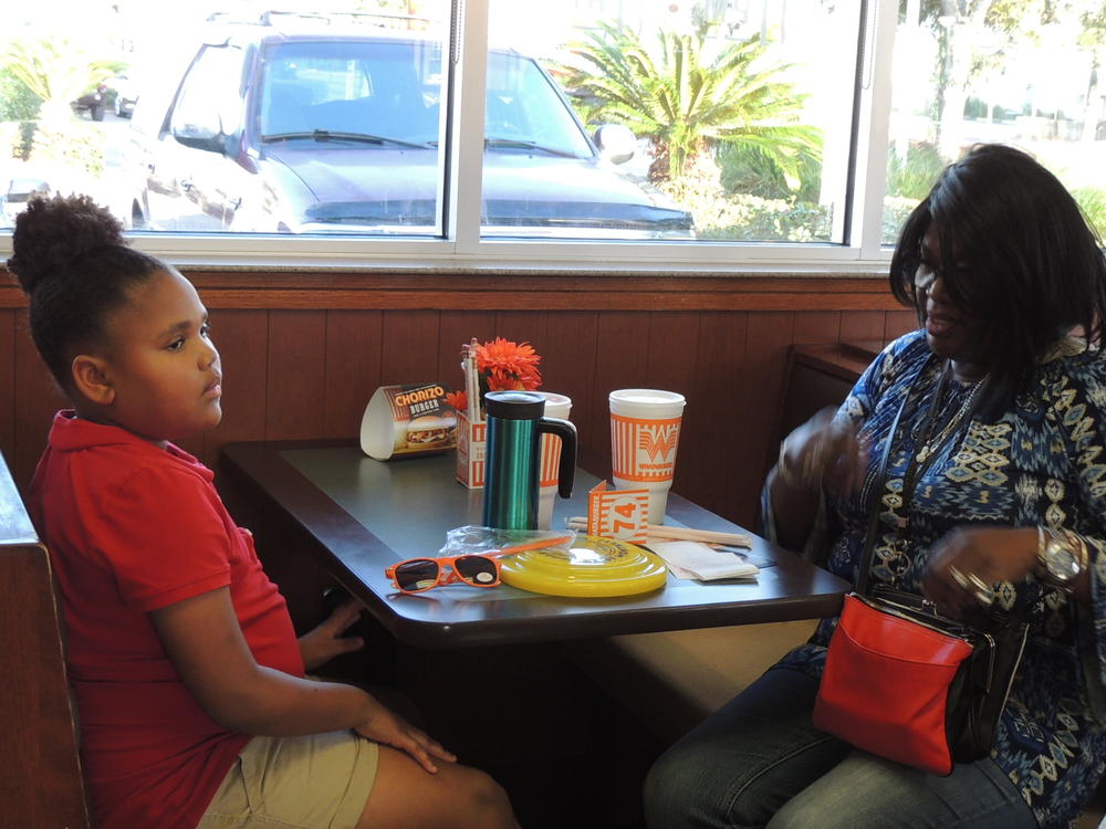 Whataburger night and Muffins with mom 022