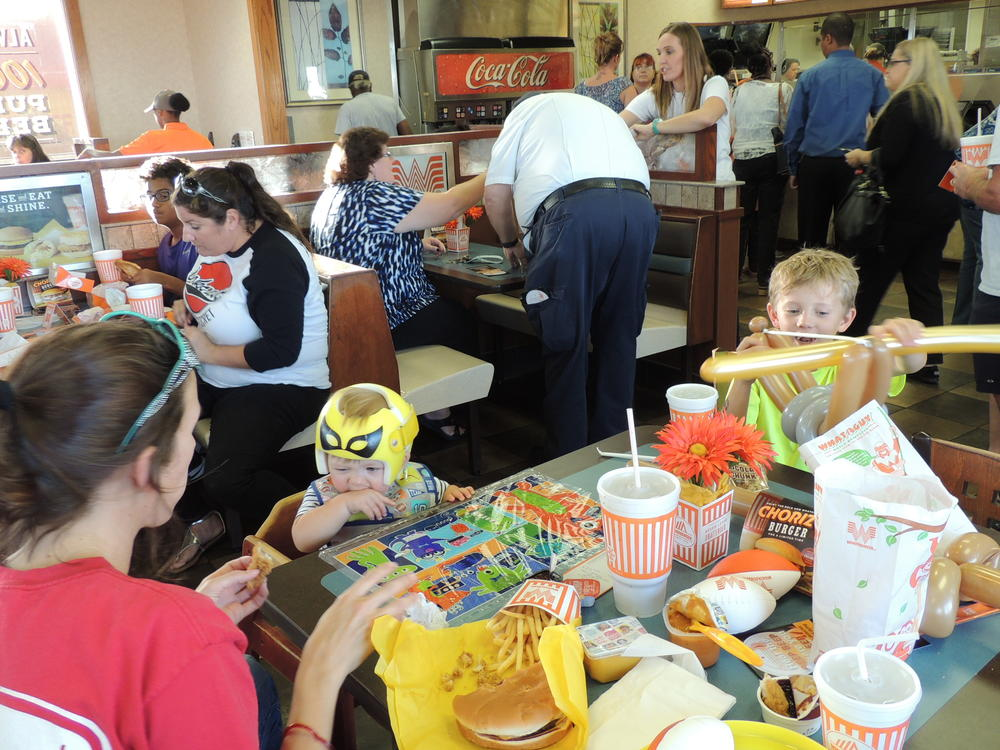 Whataburger night and Muffins with mom 032