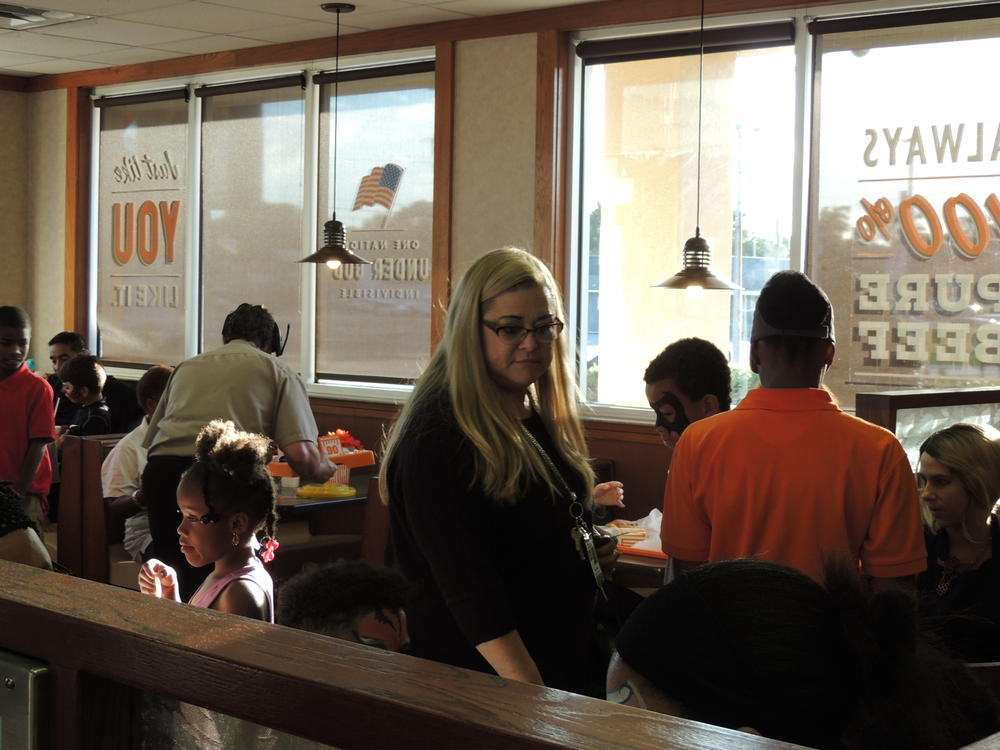 Whataburger night and Muffins with mom 035