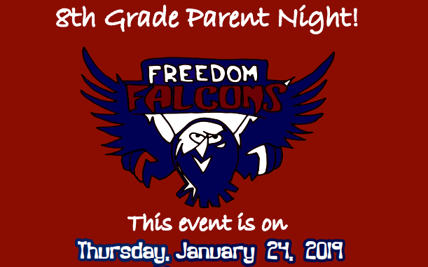 8th Grade Parent Night poster