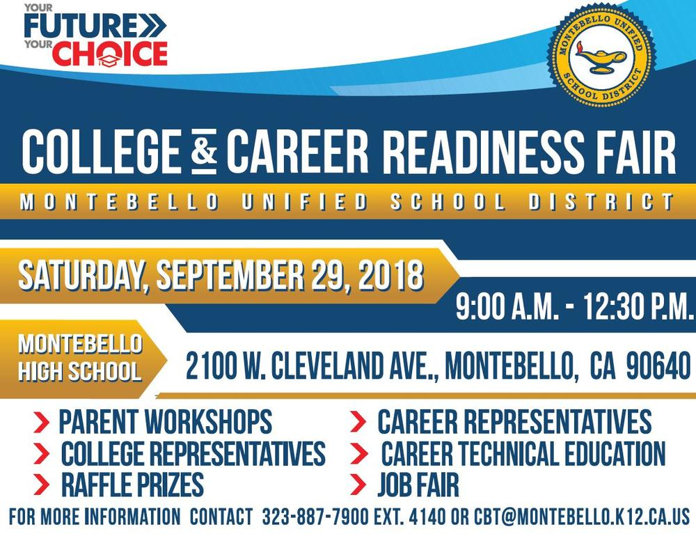2018 college and career fair flyer