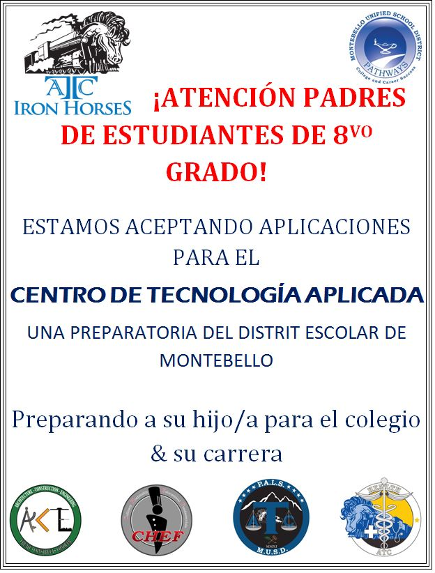 Attention 8th grade parents- Open enrollment  spanish