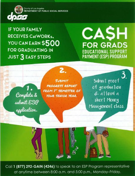 Cash for Grads Flyer