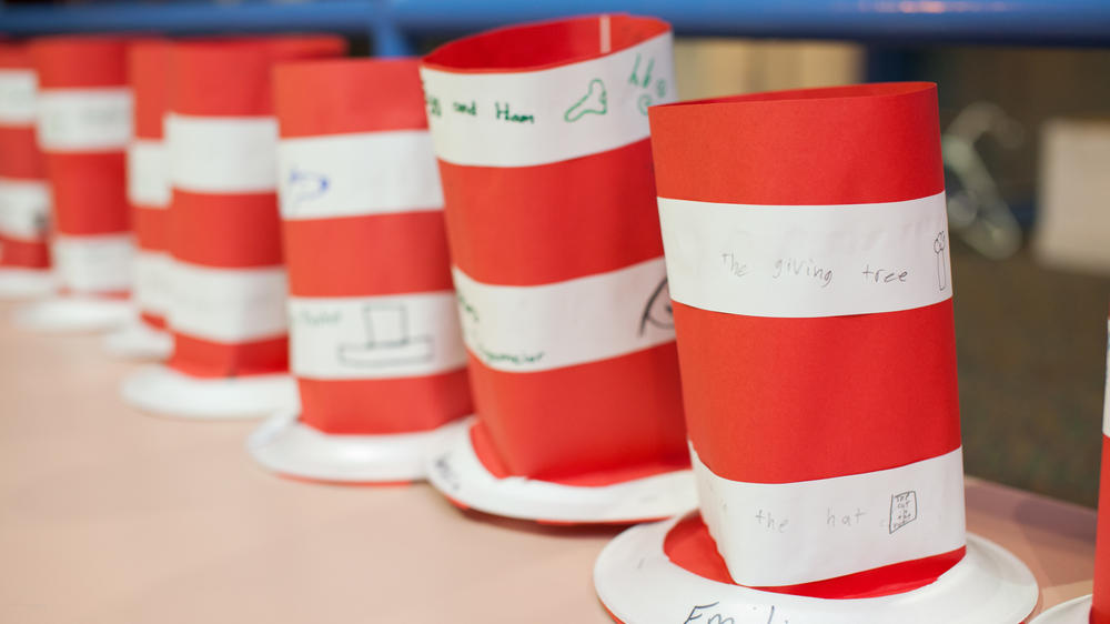Photo of Dr. Seuss hats from Read Across America Day