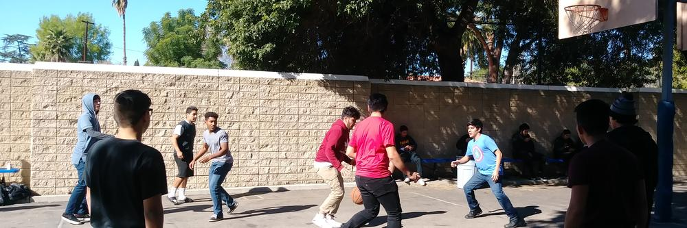 Basketball during lunch time