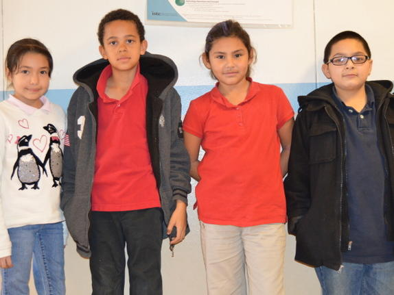 example of students wearing correct uniform.