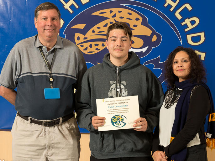 Victor Chamberlain - January Student of the Month