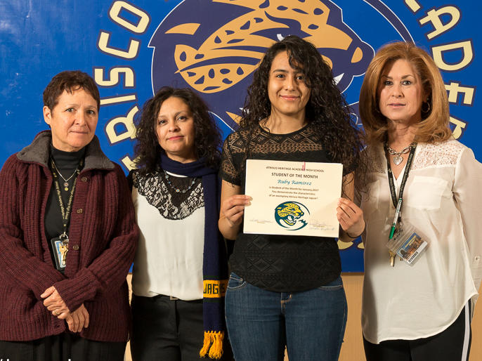 Clarizza Morales-Chacon - January Student of the Month