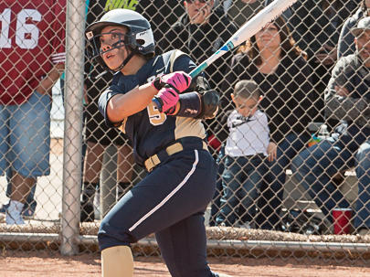 Jaelynn Vialpando breaks NM state record for most home runs in a single game,  April 11, 2017.