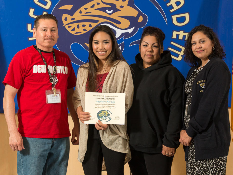 STUDENT OF THE MONTH - KAYLA KENNEDY
