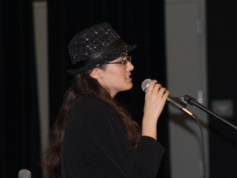 Dueling poets at the Poetry Slam