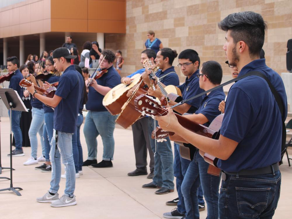 Mariachi Herencia performs at Open House.