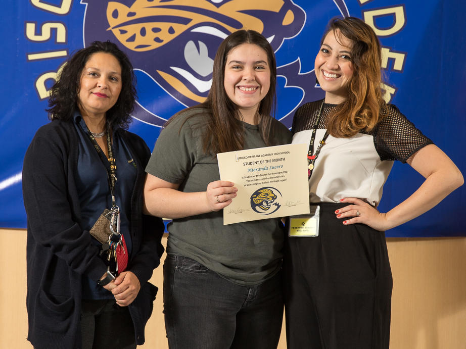 November 2017 Student of the Month - Alexis Hernandez
