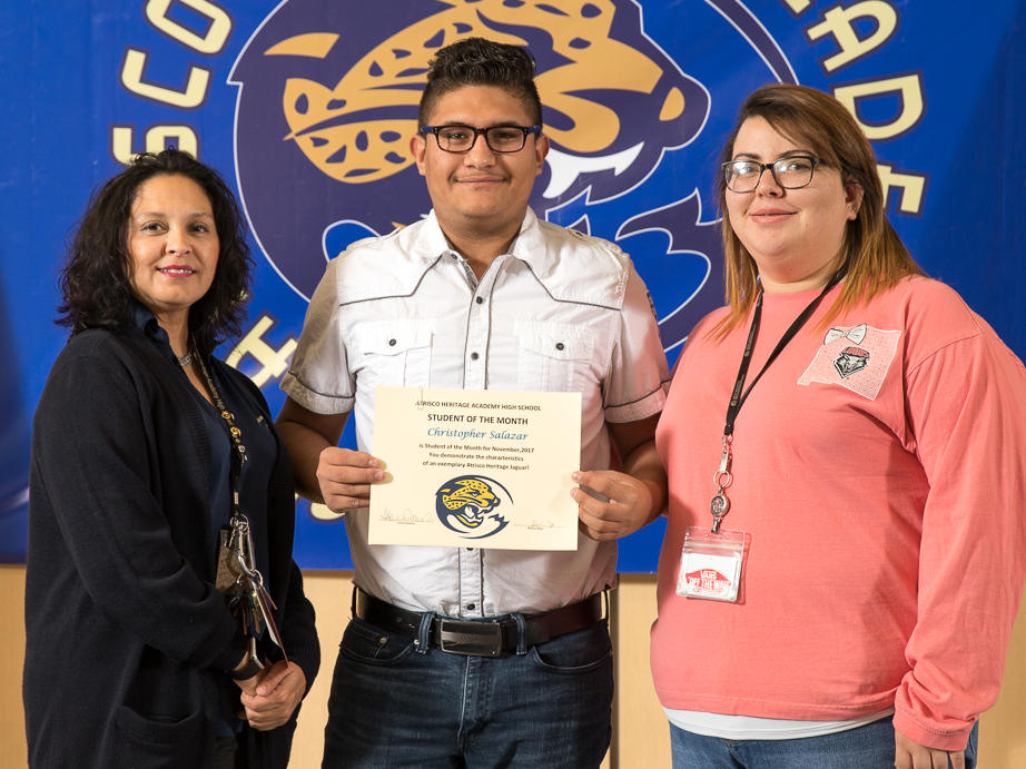 November 2017 Student of the Month - Alexis Quinones