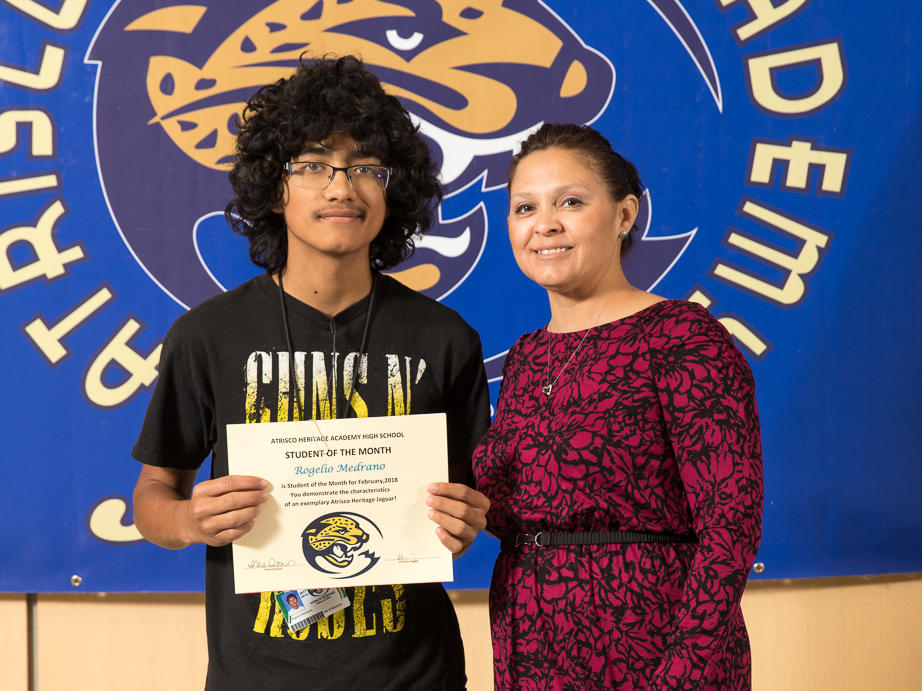 February 2018 Student of the Month Francisco Marquez-Rodriguez