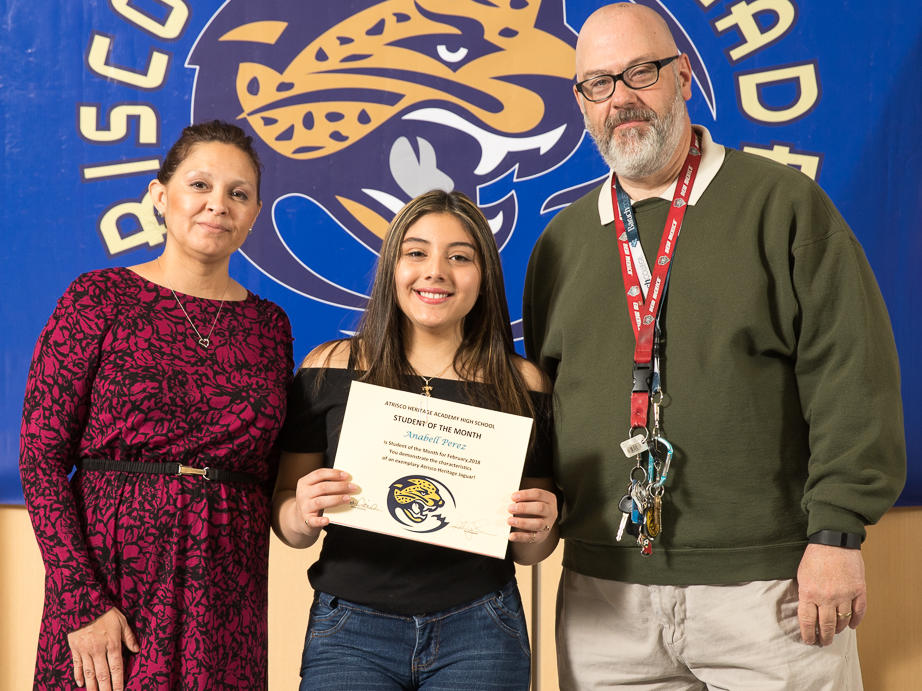 February 2018 Student of the Month Rogelio Medrano