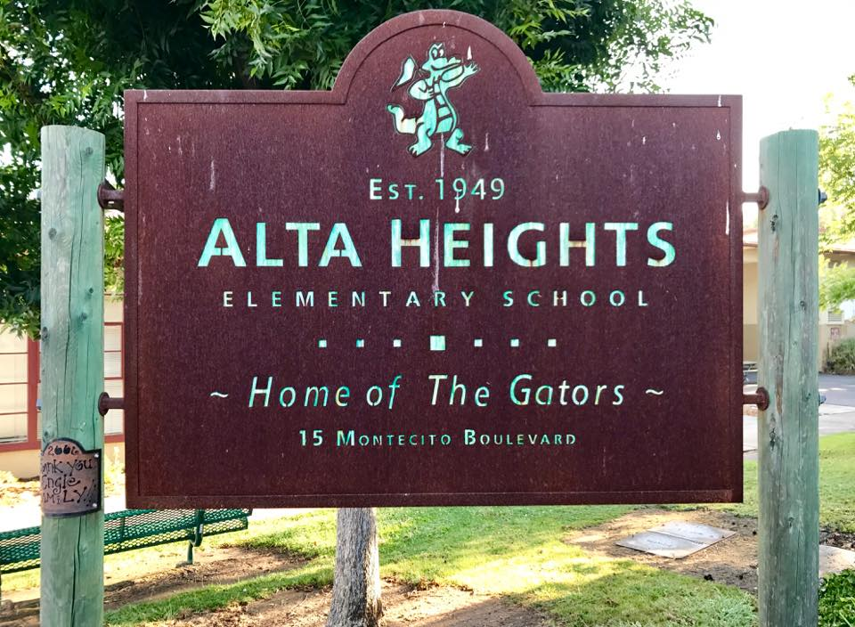 Alta Heights school sign