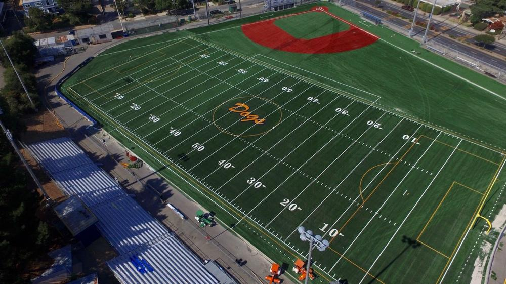 Drone View Picture of the Alhambra High School Baseball Field