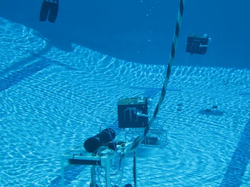 ROV landing on the pyrimid