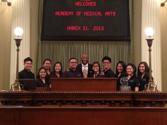 HOSA Students w  Assembly Member Hall
