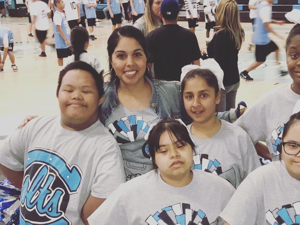 Our students with moderate severe disabilities participated in the 4th annual  Cheer Fest, a cheer competition geared for students of different abilities. The  students worked collaboratively with the Tall Flags team to learn a  choreographed routine. They performed and won Best Cheer ! Go Colts!