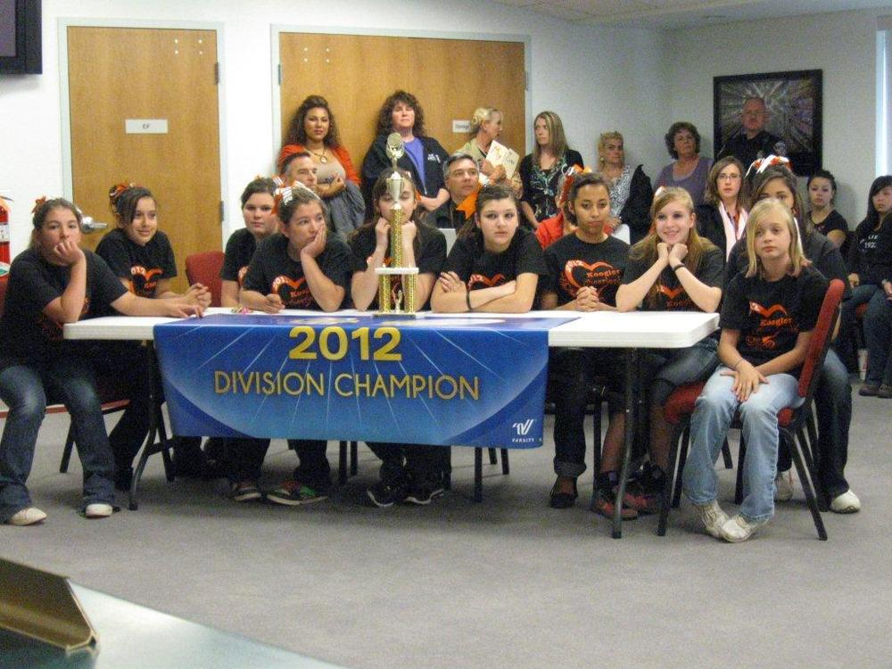 2012 Div. KMS Cheer champions
