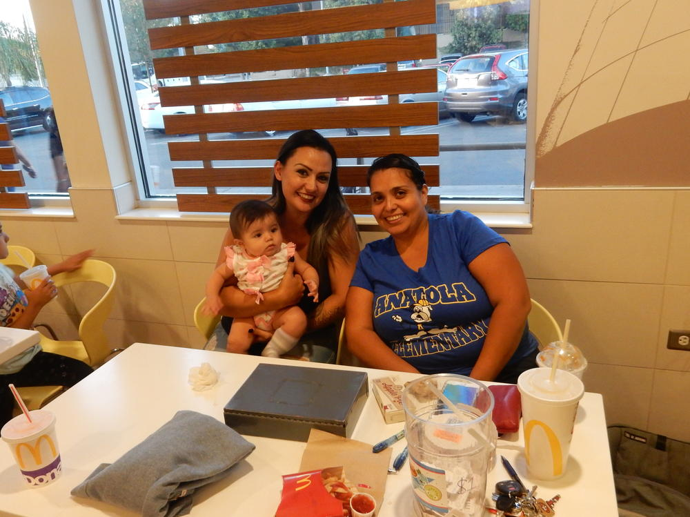 Anatola families showing school support at local McDonalds.