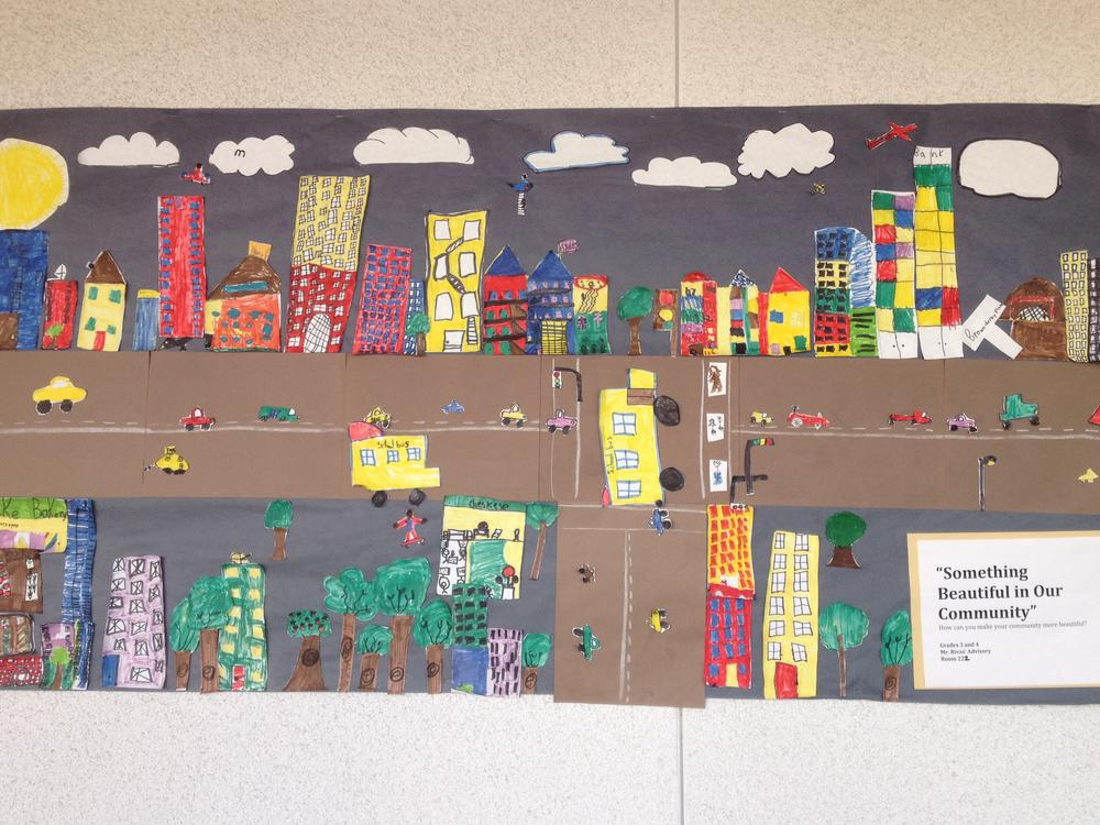 Our Community Mural from Mr. Rivas  Class