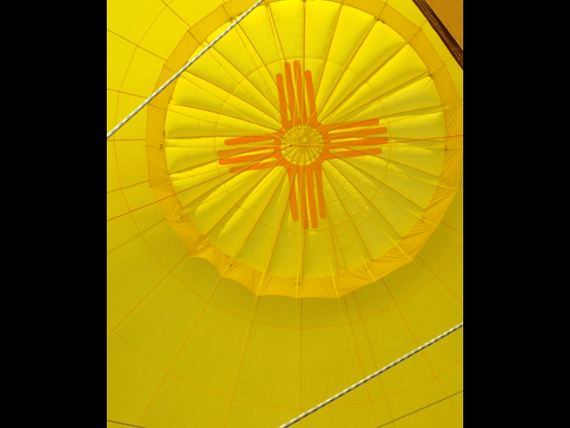 A zebra balloon from a nearby launch