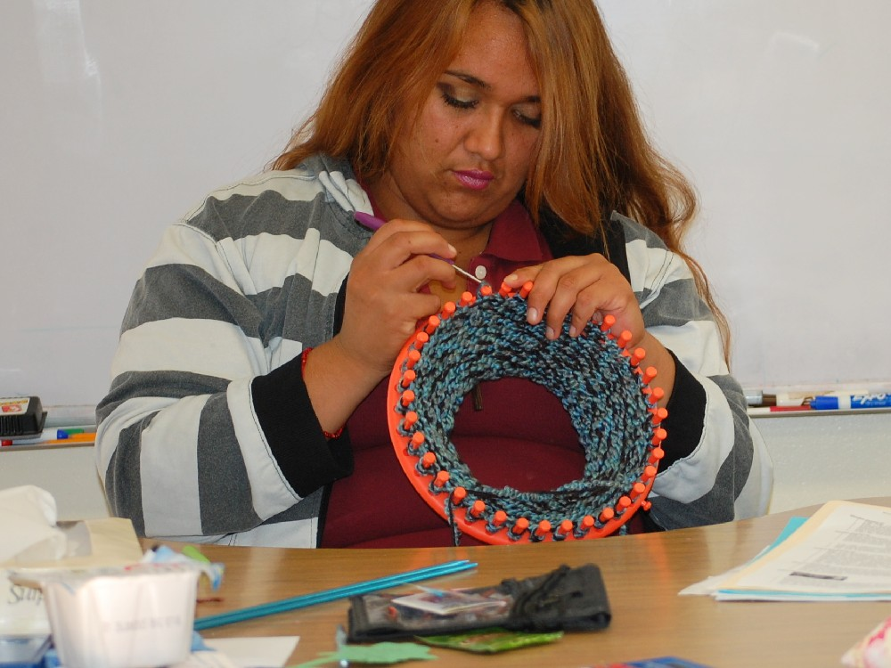 Student Crocheting2