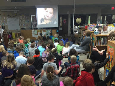 3rd 4th grade Skypes with an author