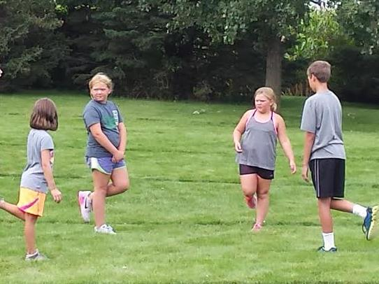 3rd and 4th grade Cross Country Camp with Donna Fiscus