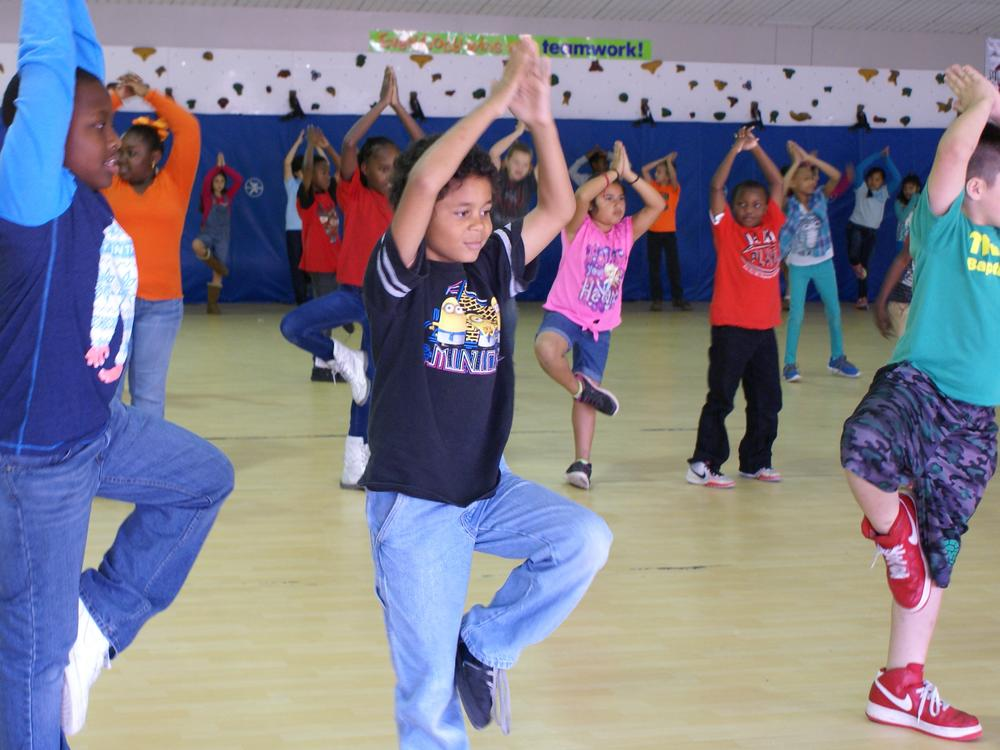 Physical Education Class at Langston Elementary