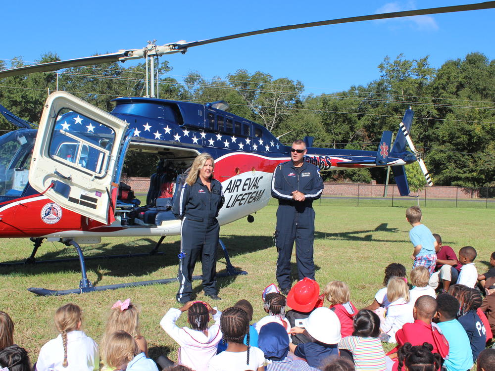 Air Evac Visits School