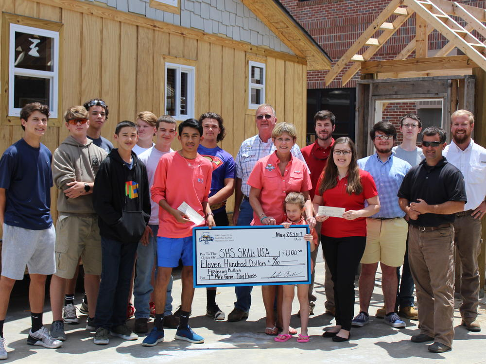 p Community Partnerships Skills USA Tiny House Project at Statesboro High p