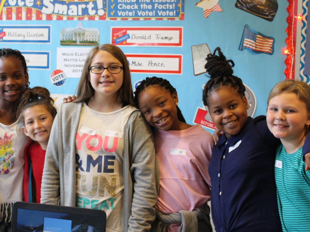 Students at Mattie Lively Elementary
