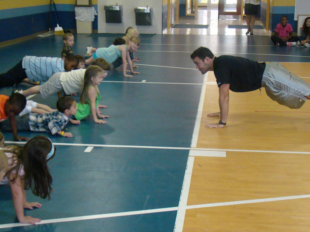 Physical Education  Pushups at Nevils Elementary
